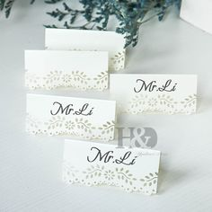 Spirited New Hot 50 Pcs Hollow Out Wedding Birthday Table Decoration Place Name Cards Festive & Party Supplies
