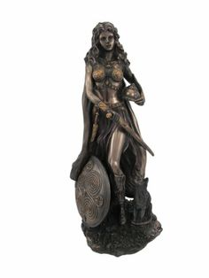Amazon.com - Freya (Freyja) Statue Norse Goddess of Love, Beauty and Fertility, Real Bronze Powder Cast Figurine, 10 Inch - Norse God