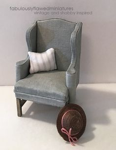 Fabulously Flawed Miniatures: Wing Chair #1 Final...