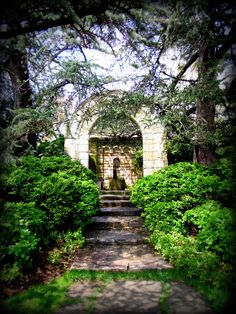 Beautiful archway in the garden at Washington National Cathedral