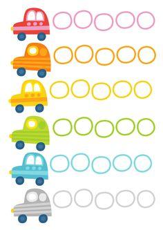 Pikku Kakkosen tulostettava autopuuha   lasten   askartelu   kesä  käsityöt   koti   värittäminen   free printable pattern   counting cars   DIY ideas   kid crafts   summer   home   colouring   Pikku Kakkonen
