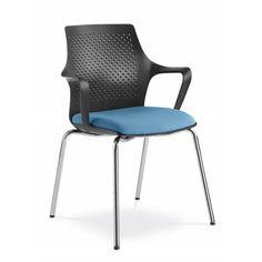 Designová moderní židle Tara s plastovým opěrákem a čalouněným sedákem. Barvy plastu jsou dostupné v bílé, černé, šedé a béžové. Chair, Furniture, Design, Home Decor, Decoration Home, Room Decor, Home Furniture, Interior Design, Design Comics