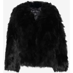 Adrienne Landau Rabbit/Fox Fur Jacket: Black (€945) ❤ liked on Polyvore featuring outerwear, jackets, black, fox fur jacket, lined jacket, rabbit jacket, fox jacket and black rabbit fur jacket