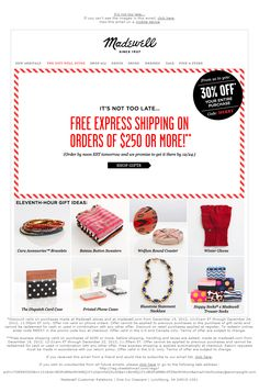 30% off last-minute gifts + final days for guaranteed free express shipping - GageMo