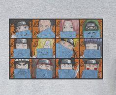 Premium Naruto Sakura Rock Lee Funny faces Tee T-Shirt