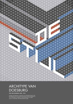 De Stijl/Architype Van Doesburg by Miki Pogoni, via Behance