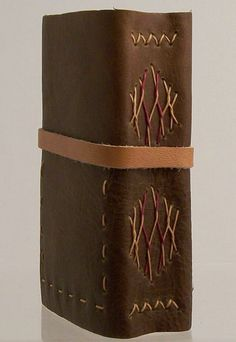 Small Leather Journal (milk chocolate). Darryl Maleike.