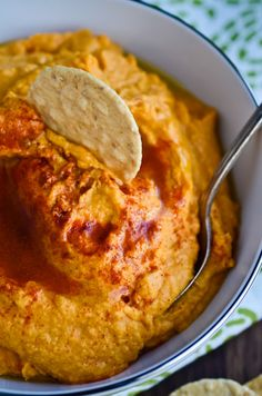 smoky sweet potato hummus from bliss blog