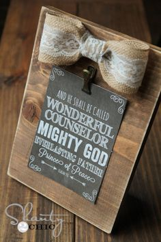Free Printable Bible Verse with $3 DIY frame. Love shanty 2 chic!