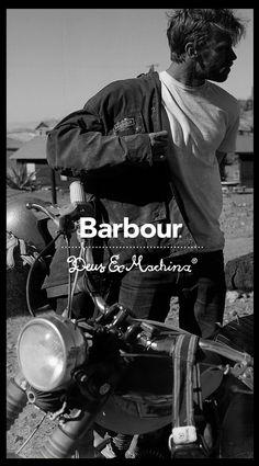 Barbour x Deus Ex Machina Barbour Jacket, Deus Ex Machina, Man Photography, Editorial Photography, Fashion Photography, Bike Style, Moto Style, Fashion Brand, Outfits