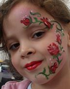 Roses face painting by clowns4all
