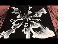Fluid Painting Extreme String Technique Acrylic Pouring BLACK and WHITE Please Share and Subscribe! - YouTube