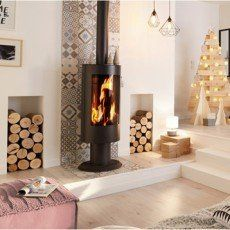 Discover recipes, home ideas, style inspiration and other ideas to try. Bedroom Fireplace, Home Fireplace, Modern Fireplace, Fireplace Design, Fireplace Ideas, Fireplaces, Wood Burning Logs, Little White House, Freestanding Fireplace