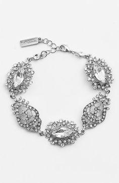 Beautiful bracelet!  Nina 'Chantal' Pavé Crystal Bracelet available at #Nordstrom  #Nordstromweddings