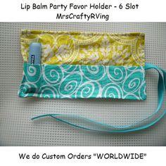 Lip Balm Holder Chapstick Case Teen Party Favor by MrsCraftyRVing, $3.50