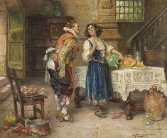 Alex de Andreis (1880-1929) - The flirtation