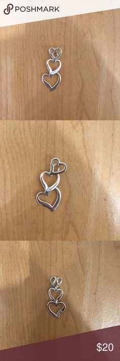 Sterling Silver Heart Pendant Sterling Silver Heart Pendant, no scratches or dings, like new! Jewelry