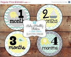 ON SALE Baby Month Milestone Stickers Baby Monthly Stickers Milestone Stickers Monthly Baby Stickers Baby Bodysuit Stickers Baby Age Sticker on Etsy, $10.00