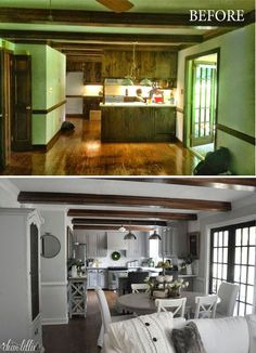 The Finishing Touches on Our Kitchen Makeover (Before and Afters) by Dear Lillie Source by livenature Kitchen Redo, New Kitchen, Kitchen Remodel, Fixer Upper Kitchen, Kitchen Makeovers, Kitchen Layout, Room Kitchen, Home Renovation, Home Remodeling