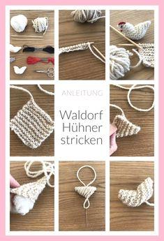 Little Waldorf chickens knitting, Waldorf farm knitting Anl .- Kleine Waldorf Hühner stricken, Waldorf Bauernhof Strick Anleitung Little Waldorf chickens knitting, Waldorf farm knitting instructions - Loom Knitting, Free Knitting, Knitting Patterns, Crochet Patterns, Tunisian Crochet, Knit Crochet, Free Crochet, Diy Knitting Projects, Tear