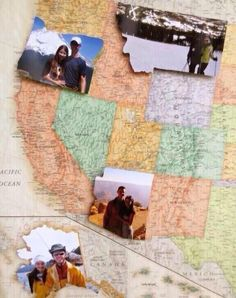 Cute idea!!! Put your picture on a map for every state you go to!!!