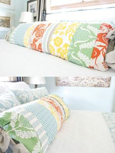 DIY pillow. I think I am going to make one of these... different colors obviously!