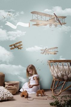 Airplane Poster Cartoon Sky Wallpaper Children's Room Sofa Background Wall , Wall Art Wall Poster Source by etsy wallpaper World Map Wallpaper, Wallpaper Size, Wall Wallpaper, Kids Wallpaper, Modern Wallpaper Designs, Designer Wallpaper, Wallpaper Childrens Room, Boy Room, Kids Room