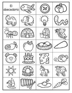 lectoescritura Super abecedario en imágenes para trabajar en infantil y primaria Pre K Activities, Alphabet Activities, Preschool Activities, Spanish Lessons, Teaching Spanish, Vocabulary Flash Cards, Abc Worksheets, Alphabet Charts, School Items