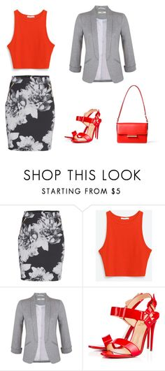 """Untitled #395"" by teszter0528 on Polyvore featuring Miss Selfridge, Christian Louboutin and Jason Wu"