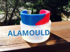 Making Red/Blue Resin Bracelet, Easy & Fun! ALAMOULD
