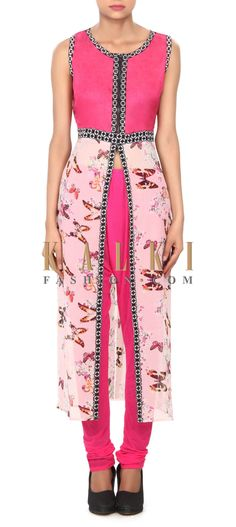 Buy this Pink kurti with butterfly print only on Kalki