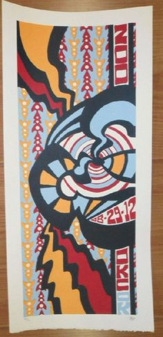 Original silkscreen concert poster for Phish on August 29th at The Zoo Amphitheatre in Oklahoma City, OK in 2012. It is printed on Watercolor Paper with Acrylic Inks and measures around 10 x 22 inches.  Print is signed and numbered out of only 110 by the artist Tripp.