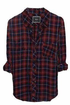Rails Hunter Plaid Shirt in Midnight/Wine