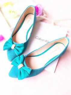 Rhinestone bowtie Women flats 2014 spring summer New fashion pointed toe OL style casual woman single shoes,35-41 US $15.40