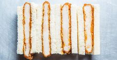 Make a pork cutlet sandwich like the Japanese: Dredge the pork in panko, fry it until golden, sauce with barbecue and serve it on pillowy white crustless bread.