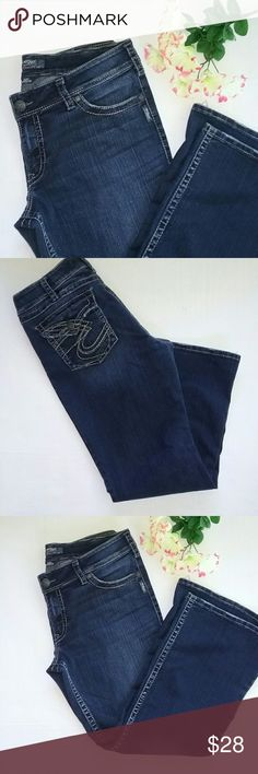Ladies Silver Suki Jeans 36 X 30 Dark Wash This is a great pair of Silver Jeans. STYLE is Suki Surplus. Size 36 X 30. DARK WASH. GREAT pre-owned condition. Silver Jeans Jeans Boot Cut