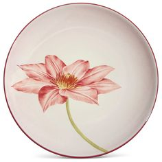 "Noritake - Colorwave Collection - Floral Accent/Luncheon Plate, 8 1/4"" (Clematis)"