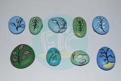 painted magnet stones
