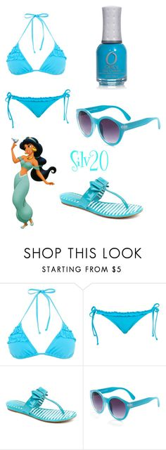 """Princess Pool Party: Jasmine"" by silvermist20 ❤ liked on Polyvore featuring Disney, Arturo Chiang, Quay and ORLY"