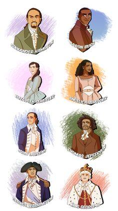 publius-esquire:  The Complete Set of Hamilton Character Sketches  PUUUUUUUUBLIUS YOU ARE MY DUDE