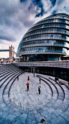 London City Hall. This is just across the Thames River from Trinity Square Flat.