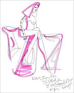 Karim Rashid's design sketch