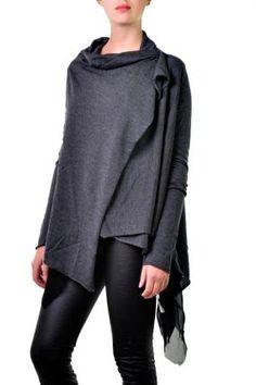 Peachoo + Krejberg Wool Cross Body Sweater in Grey