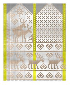 the site is in russian, but omg, reindeer humping mittens hahaha I want to make these Knitted Mittens Pattern, Knit Mittens, Knitted Gloves, Knitting Socks, Baby Knitting, Knitting Charts, Knitting Stitches, Knitting Patterns, Norwegian Knitting