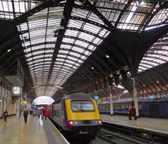 https://flic.kr/p/oPuKuA   Paddington London 17th October 2014   It's just after 9am and an HST has just come to a halt at platform 1 and passengers begin to stream out under Brunel's beautiful trainshed. I had sneaked into platform 12 over to the far right on a dmu from Southall.