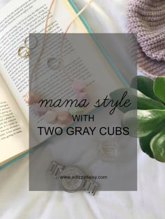 Mama Style With Two Gray Cubs - www.adizzydaisy.com