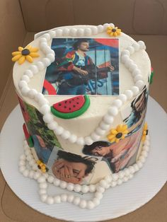 One Direction Birthday, One Direction Cakes, Harry Styles Birthday, Harry Birthday, Pretty Birthday Cakes, Cute Birthday Cakes, Pretty Cakes, Mini Cakes, Cupcake Cakes