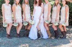 Pink/Nude Bridesmaid Dresses