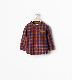 ZARA - KIDS - CHECK SHIRT WITH POCKET DETAIL