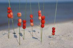 Abacus strawberry bent sea sand land art by LandArtFlowertrip, €15.00